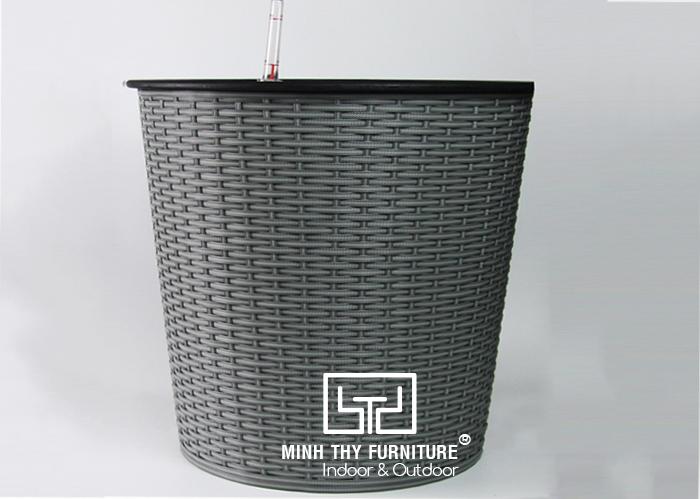 Chậu Trồng Cây Tự Dưỡng Nhựa Đan Tròn – NT42
