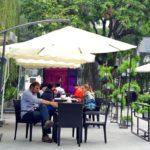 Bàn ghế giả mây minh thy cung cấp ngoại thất giả mây tại Cafe Cỏ Nội  Garden