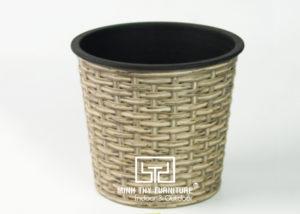 Chậu Trồng Cây Tự Dưỡng Nhựa Đan Tròn – NT20