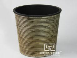Chậu Trồng Cây Tự Dưỡng Nhựa Đan Tròn – NT24