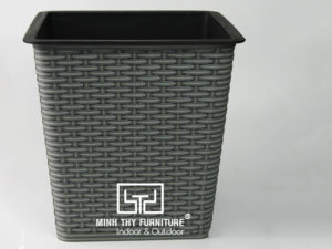Chậu Trồng Cây Tự Dưỡng Nhựa Đan Vuông – NV24