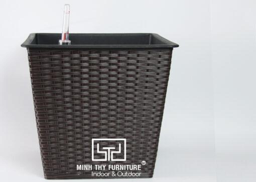 Chậu Trồng Cây Tự Dưỡng Nhựa Đan Vuông – NV26H30