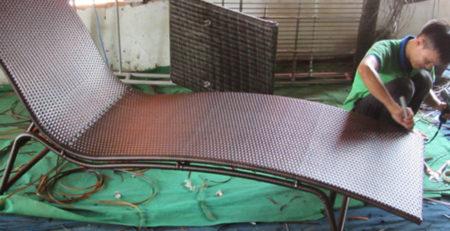 Hướng dẫn cách đan giường tắm nắng nhựa giả mây ngoài trời MT4A24 | Minh Thy Furniture