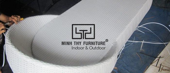 Video đan ghế hồ bơi MT 452 ( loại đơn)  tại xưởng đan mẫu công ty Minh Thy
