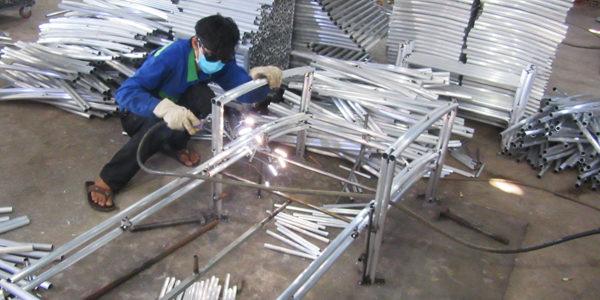 Video ra khung ghế hồ bơi ngoài trời MT489 tại xưởng Minh Thy Furniture