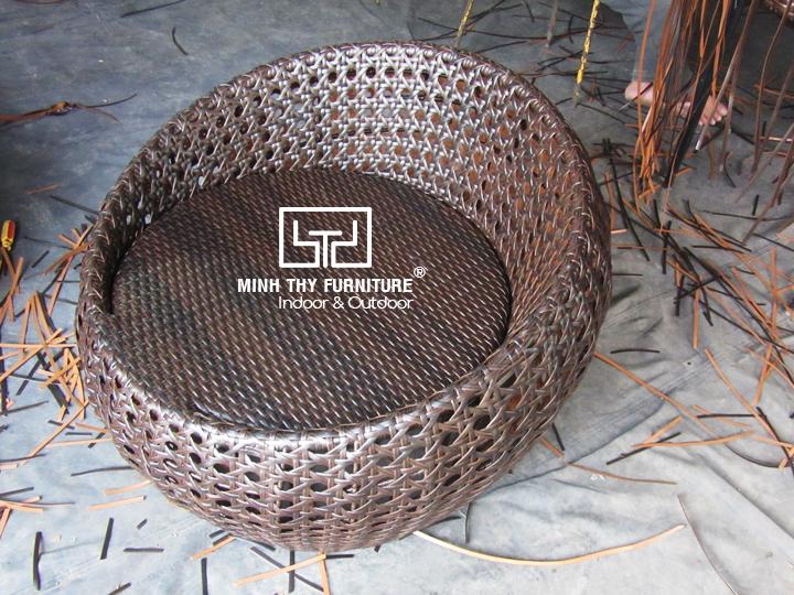 Hướng dẫn đan ghế trứng nhựa giả mây dây dẹp