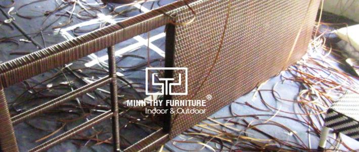 Hướng dẫn đan giường nằm hồ bơi MT444 tại xưởng Minh Thy Furniture