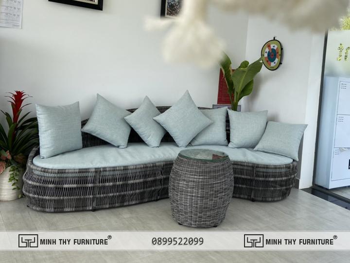 Sofa ngoài trời nhựa giả mây MT1000